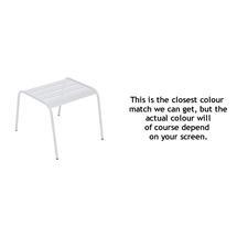Monceau Low Table / Footrest - Cotton White