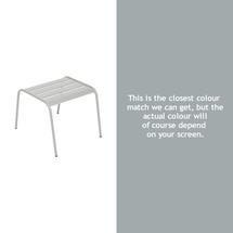 Monceau Low Table / Footrest - Steel Grey