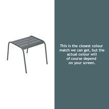 Monceau Low Table / Footrest - Storm Grey