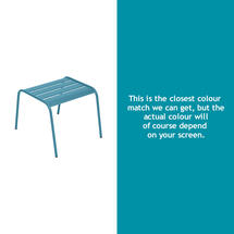 Monceau Low Table / Footrest - Turquoise