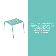 Monceau Low Table / Footrest - Lagoon Blue