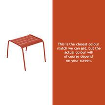 Monceau Low Table / Footrest - Paprika
