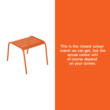 Monceau Low Table / Footrest - Carrot