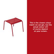 Monceau Low Table / Footrest - Poppy