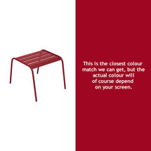 Monceau Low Table / Footrest - Chilli