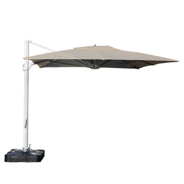 buy sunrise rectangular 3m x 4m led cantilever parasol by. Black Bedroom Furniture Sets. Home Design Ideas