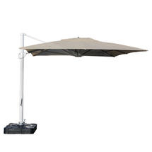 Sunrise 3 x 4m Rectangular Parasol with base stand - Taupe