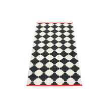 Marre 70 X 150cm Black/Vanilla/Coral Red Edge