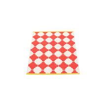Marre 70 X 90cm Coral Red/Vanilla/Mustard Edge