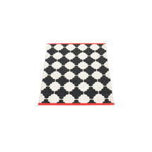 Marre 70 X 90cm Black/Vanilla/Coral Red Edge