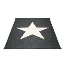 Viggo Star 180 X 230cm Black Metallic/Vanilla