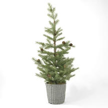 Christmas Pine Tree in Basket