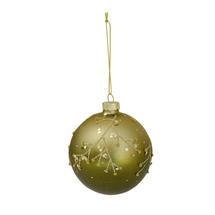 Enchanted Green Glass Bauble - Tree