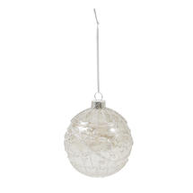 8cm Embossed Glass Baubles - Carousel