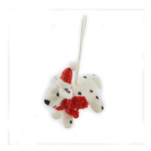 Mini Felt Dalmatian Christmas Decoration
