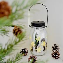 Christmas LED Light Jar -Snowflake