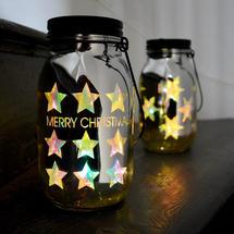 Christmas LED Light Jar - Star