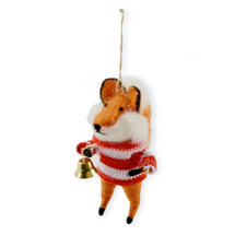 Fox With Festive Bell
