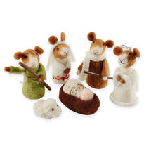 Felt Mice Nativity Set