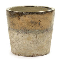 Conic Gold Glazed Pot - Large