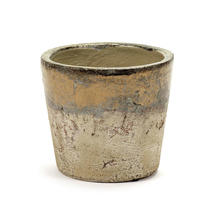 Conic Gold Glazed Pot - Small