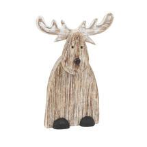 Large Rustic Wooden Reindeer