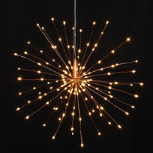 Copper Starburst LED Allium Outdoor Lights - Large
