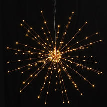 Copper Starburst LED Allium Outdoor Lights - Small