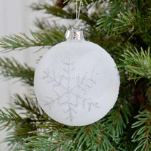 Glitter Snowflake Glass Ball