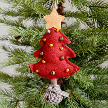 Hanging Felt Christmas Tree - Red