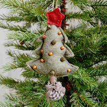 Hanging Felt Christmas Tree - Green