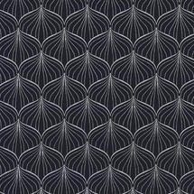 Oilcloth Fabric Alli - Midnight Blue