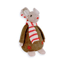 Christmas Mouse - Brown Jumper