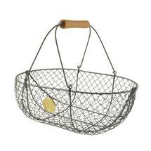 Large Harvesting Basket - Grey