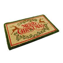 Merry Christmas Coir Doormat - Reindeer