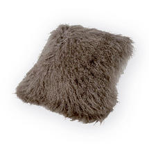 Tibetan Sheepskin Square Cushion - Ash