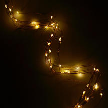 Outdoor 8 x 150cm String LED - Amber Copper Wired