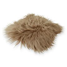 Longhair Sheepskin Seat Cover - Taupe