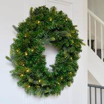 60cm Lit Pine Wreath with 35 LEDs