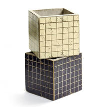 Small Square Mosaic Pot - White