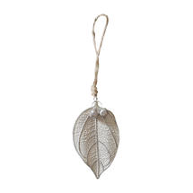 White Frosted Small Leaf Decorations
