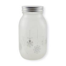 Christmas LED Light Jar - Snowflake