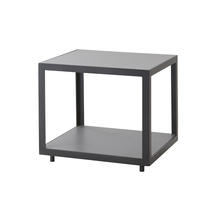 Level Side Table - Lava Grey with Grey Ceramic Tile