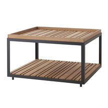 Coffee Table - Lava Grey with teak