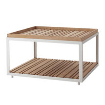 Coffee Table - White with teak