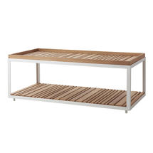 Large Coffee Table - White with teak