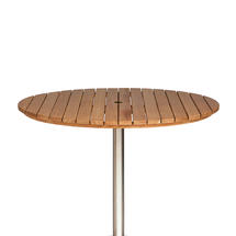 Antibes Teak 130cm Round Slatted Top w/parasol hole