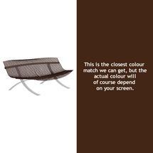 Charivari Bench Steel Grey Frame - Russet