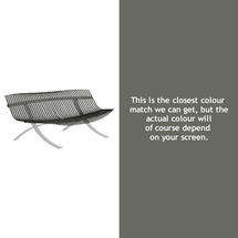 Charivari Bench Steel Grey Frame - Rosemary
