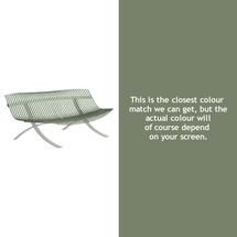 Charivari Bench Steel Grey Frame - Cactus